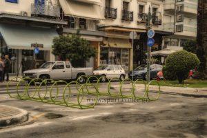 Σπάρτη. Στάθμευση για ποδήλατα στην Κ. Παλαιολόγου