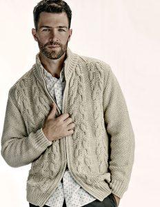 Χονδρά πλεκτά και πουλόβερ για τους άνδρες.