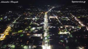 Νέος ηλεκτροφωτισμός στην Σπάρτη