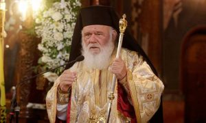 Στην Σπάρτη Ο Μακαριώτατος Αρχιεπίσκοπος  κ.κ. Ιερώνυμος.