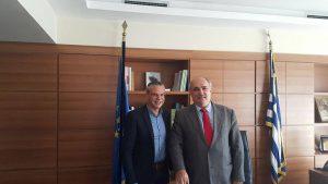 Συνάντηση του Δημάρχου Ευρώτα με τον Υπουργό Αγροτικής Ανάπτυξης.
