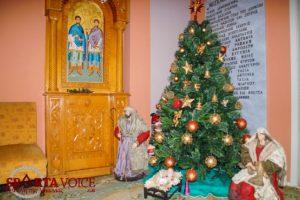 Γιορτινή διάθεση από το 7 Νηπιαγωγείο Σπάρτης στο Γηροκομείο Σπάρτης.