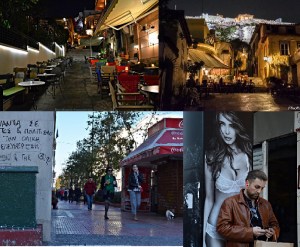 The streets of Athens