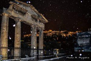 Χιονισμένη Αθήνα.