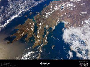Η Ελλάδα μας από τις εικόνες του Δορυφόρου 30/1/2017.