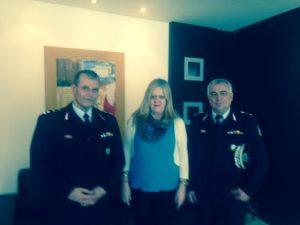 Συνάντηση της Αντιπεριφερειάρχη Λακωνίας με το νέο Γενικό Περιφερειακό Αστυνομικό Διευθυντή Πελοποννήσου κ. Δημήτριο Τριγώνη.