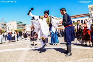 Σπάρτη . Παραδοσιακοί χοροί 25ης Μαρτίου.