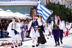 Με λαμπρότητα ο εορτασμός της Εθνικής Επετείου 25ης Μαρτίου 1821 στη Λακωνία.