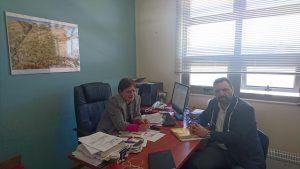 Ο Στ. Αραχωβίτης σε συνάντηση με την πρόεδρο της Νοσηλευτικής σχολής Π.Πελοποννήσου.