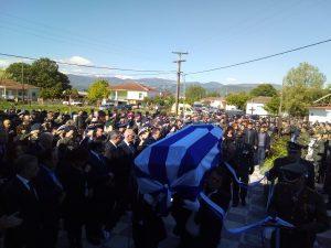 Κλίμα οδύνης στην κηδεία του συνταγματάρχη Θωμά Αδάμου.