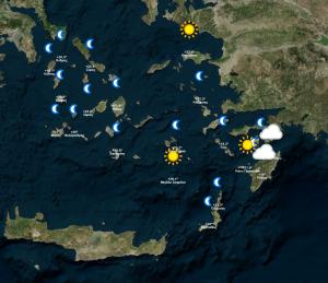 Ο καιρός για την Δευτέρα 19-6-2017. Σε περιοχές της Ελλάδος.