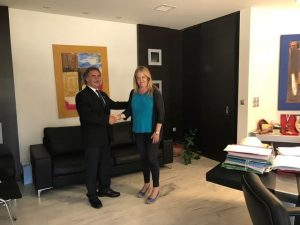 Συνάντηση της Αντιπεριφερειάρχη με τον Πρόεδρο Παλλακωνικής Ομοσπονδίας Ηνωμένων Πολιτειών Αμερικής και Καναδά .