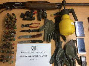 Συνελήφθησαν 3 άτομα στην Μεσσηνία για ναρκωτικά & όπλα.