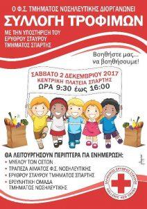 Συλλογή Τροφίμων ΦΣ Νοσηλευτικής& Ερυθρού Σταυρού Σπάρτης.