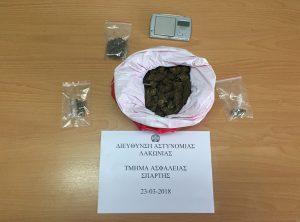 Συνελήφθη 22χρονος για ναρκωτικά στη Λακωνία.