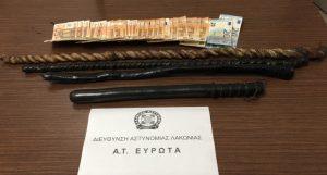 Λακωνία: συνελήφθη ένα άτομο για παράβαση της νομοθεσίας για τα όπλα και εξιχνιάστηκε μία περίπτωσης κλοπής.