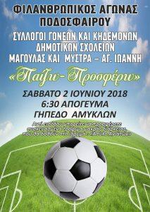 Φιλικός αγώνας ποδοσφαίρου για φιλανθρωπικό σκοπό.