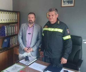Επίσκεψη Στ. Αραχωβίτη στην Πυροσβεστική Υπηρεσία Σπάρτης.