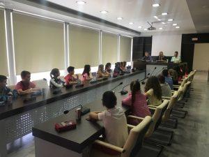 Επίσκεψη μαθητών στην ΠΕ Λακωνίας για την διεθνή ημέρα μουσείων.