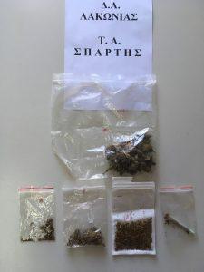 Συλλήψεις για ναρκωτικά σε κατάστημα της Σπάρτης και για παραμέληση ανηλίκου