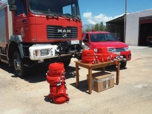 Ευχαριστήρια επιστολή της Πυροσβεστικής Υπηρεσίας Αρεόπολης για δωρεά εξοπλισμού στην Υπηρεσία τους