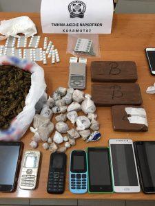 Εξαρθρώθηκε εγκληματική οργάνωση, η οποία δραστηριοποιούνταν στη διακίνηση ναρκωτικών, στη Μεσσηνία και στην Αττική.