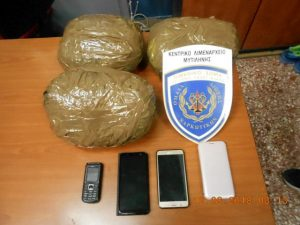 Συλλήψεις για ναρκωτικά στη Μυτιλήνη.