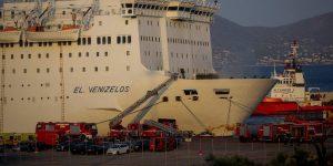 Εκδήλωση πυρκαγιάς στο πλοίο Ελ. Βενιζέλος.