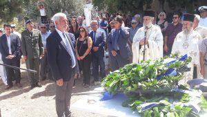 Τελετή επιστροφής και ταφής των οστών του Πλωτάρχη Νικολάου Πανάγου στην Πραγματευτή Κυνουρίας