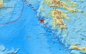 Μεγάλης έντασης σεισμός στην Ζάκυνθο.