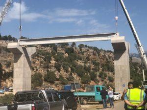 Επίσκεψη Αδ. Τζανετέα στη γέφυρα του Πόρου & στην παράκαμψη Γερακίου.
