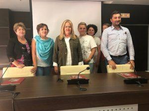 Συνάντηση της Αντιπεριφερειάρχη Λακωνίας κ. Αδαμαντίας Τζανετέα με μαθητές από την Ρουμανία στα πλαίσια του προγράμματος ERASMUS.