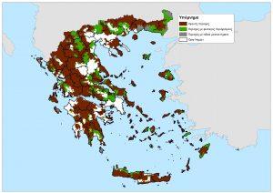 Παρουσιάστηκε ο νέος χάρτης των μειονεκτικών περιοχών της Ελλάδας