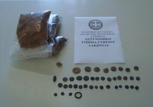 Συνελήφθη ένα άτομο για κατοχή αρχαίων αντικειμένων στη Λακωνία.