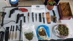 Κορινθία: σύλληψη 3 ατόμων για ναρκωτικά και όπλα