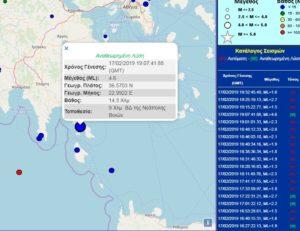 Ισχυρή σεισμική δόνηση στην Νεάπολη Λακωνίας