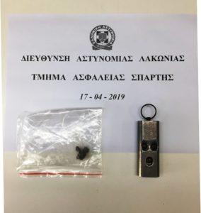 Λακωνία. Σύλληψη 1 ατόμου για κλοπή & 1 ατόμου για όπλα – ναρκωτικά
