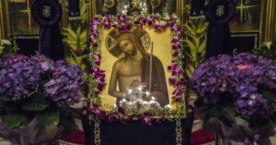 Ο Εσπερινός της Μ.Δευτέρας στον Ι.Ν.Αγίου Σπυρίδωνος Σπάρτης