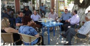 Επίσκεψη του Δ. Χασομέρη υπ.βουλευτή του ΣΥΡΙΖΑ σε τοπικά διαμερίσματα της Λακωνίας.