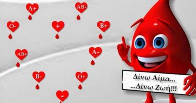 Εθελοντική αιμοδοσία την Δευτέρα 1 Ιουλίου στα Ανώγεια Δ. Σπάρτης