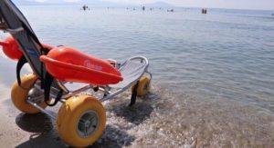 Ράμπα για ΑμεΑ στη παραλία  Έλους Λακωνίας