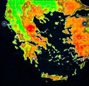 Ανάλυση ατμοσφαιρικής κυκλοφορίας – υψηλές θερμοκρασίες