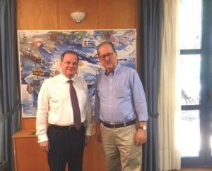 Συνάντηση Π. Νίκα με τον Υπουργό Υποδομών & Μεταφορών – Άμυνας