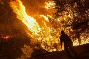 Ολονύχτια μάχη για την φωτιά στην Εύβοια