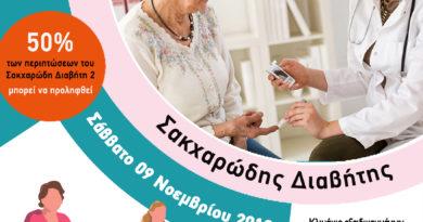 Δωρεάν εξετάσεις στο Κ.Υ Αρεόπολης για την ημέρα του Σακχαρώδη Διαβήτη