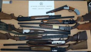 Σύλληψη 36χρονου για παράνομη οπλοκατοχή 8 όπλων