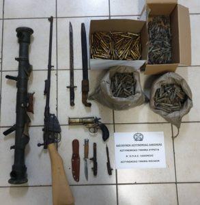 Συλλήψεις τριών ατόμων για όπλα στην Λακωνία
