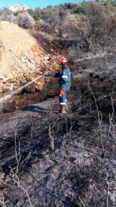 Πυρκαγιές  στους Δήμους Μονεμβασίας και Ευρώτα λόγω καύσης υπολειμμάτων καλλιεργειών
