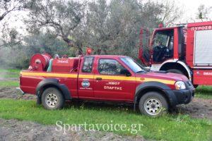 Ο Δ. Σπάρτης προσφέρει βοήθεια στην πυρκαγιά στον Δ.ΑΝ. Μάνης