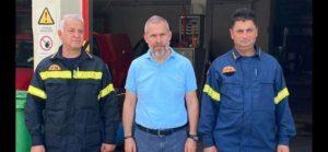 Επίσκεψη Δαβάκη στην Πυροσβεστική Υπηρεσία της Σπάρτης